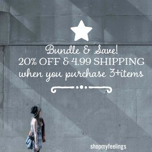 Bundle &  Save 20% off with $4.99 shipping!